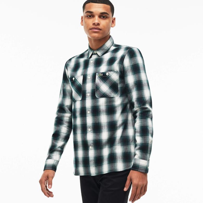 Lacoste Erkek Yeşil Uzun Kollu Gömlek