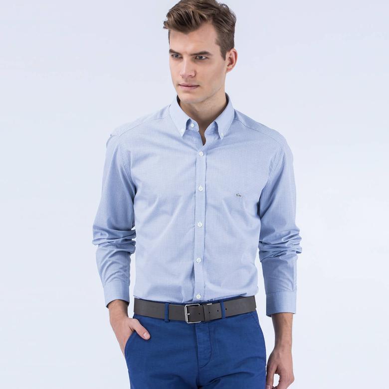 Lacoste Erkek Beyaz Uzun Kollu Regular Fit Gömlek