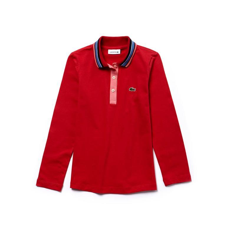 Lacoste Çocuk Kırmızı Uzun Kollu Polo