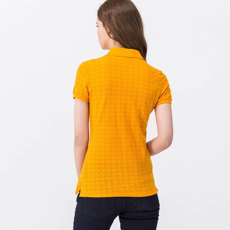 Lacoste Kadın Sarı Kısa Kollu Polo
