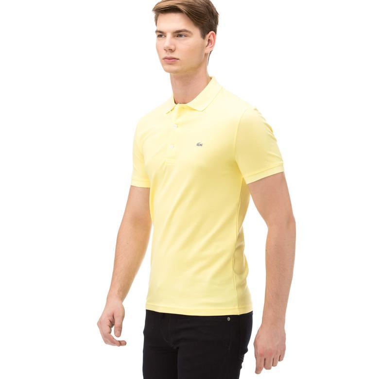 Lacoste Erkek Sarı Slım Fit Kısa Kollu Polo