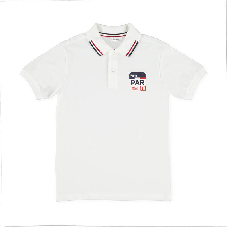 Lacoste Çocuk Beyaz Kısa Kollu Polo