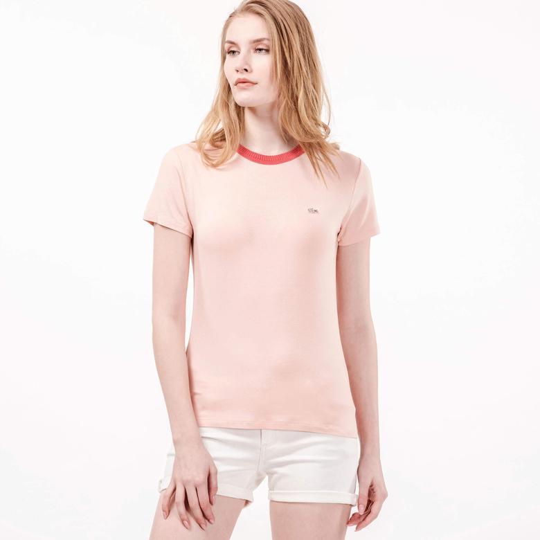Lacoste Kadın Pembe Kısa Kollu T-Shirt