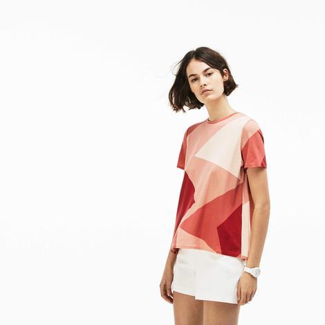 Lacoste Kadın Pembe Kısa Kollu Arkası Açık T-Shirt