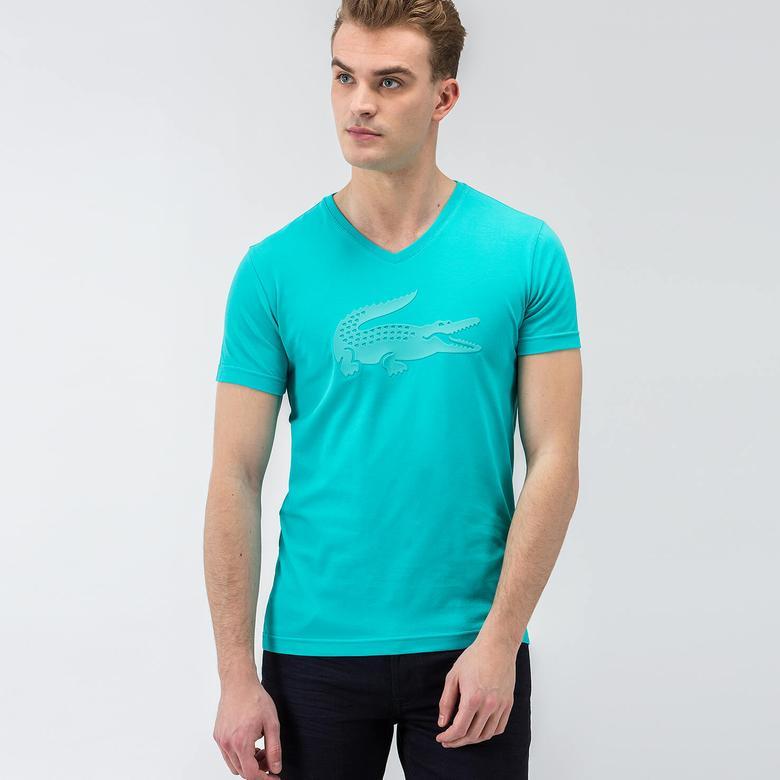 Lacoste Kısa Kollu Mavi Erkek Tshirt