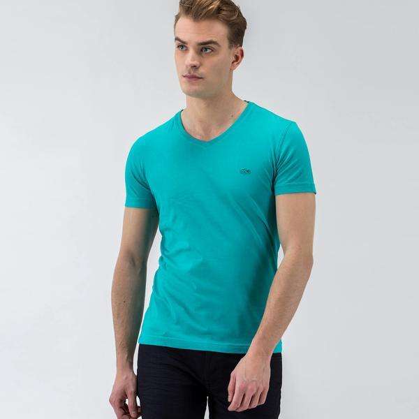 Lacoste Mavi Kısa Kollu Erkek Tshirt
