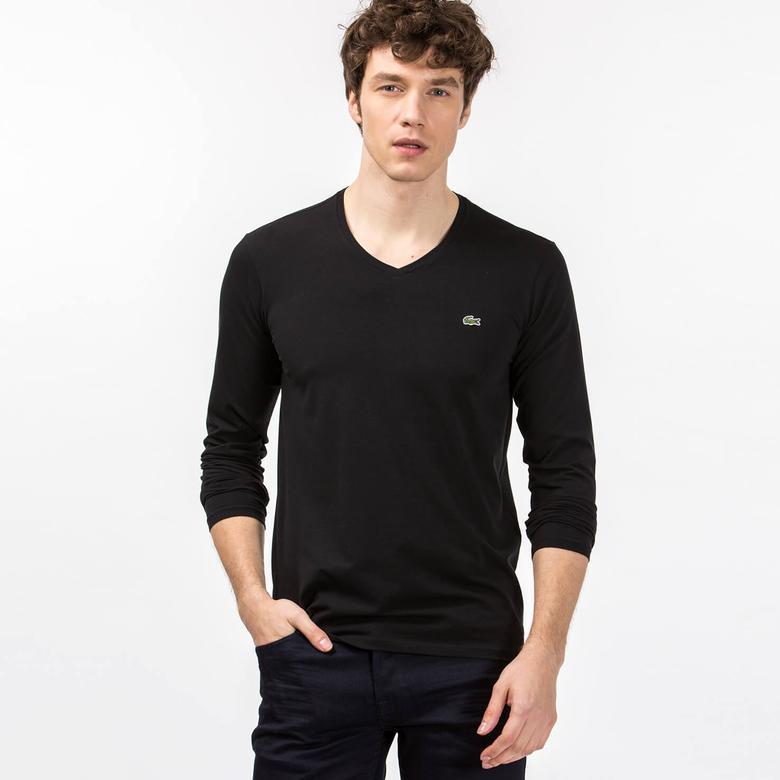 Lacoste Erkek Regular Fit Siyah Uzun Kollu T-Shirt