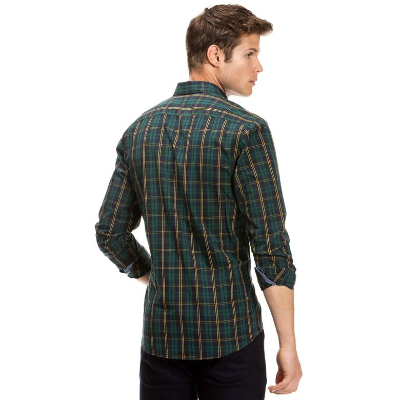 Nautica Erkek Uzun Kollu Yeşil Slim Fit Gömlek