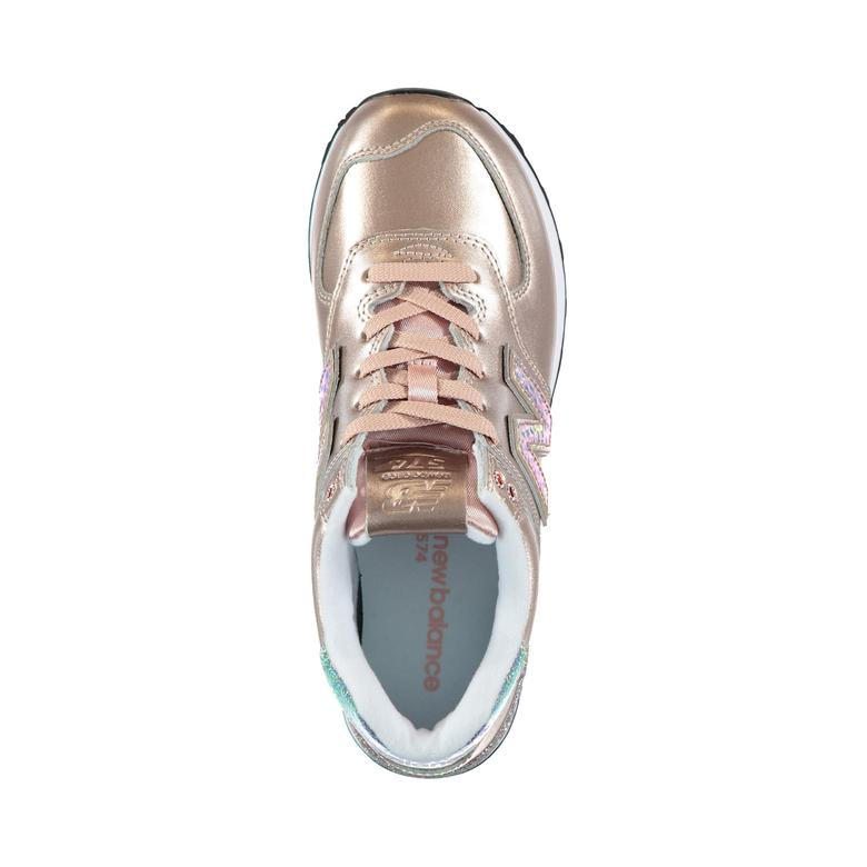 New Balance 574 Glitter Punk Kadın Pembe Sneaker