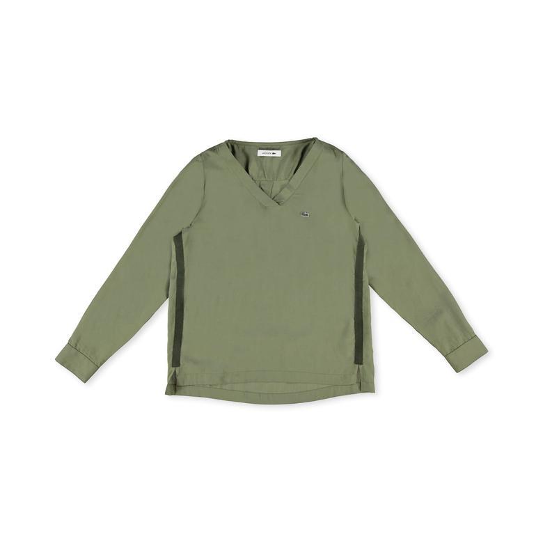 Lacoste Kadın Yeşil Uzun Kollu Bluz