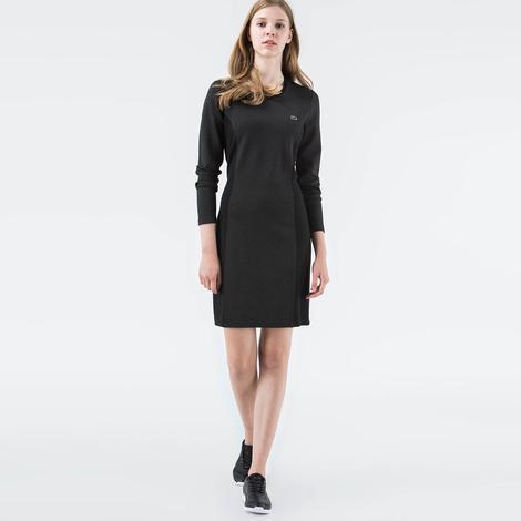 Lacoste Kadın Slim Fit Gri Elbise