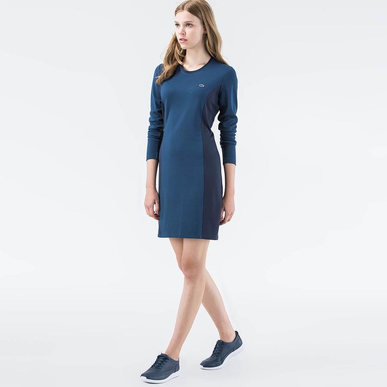 Lacoste Kadın Slim Fit Mavi Elbise
