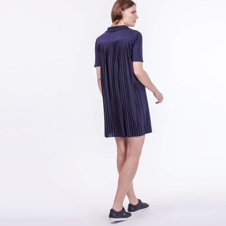 Lacoste Kadın Regular Fit Mor Elbise