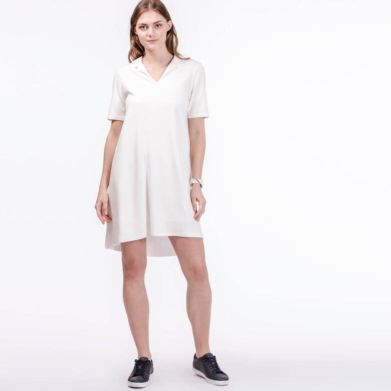 Lacoste Kadın Beyaz Elbise