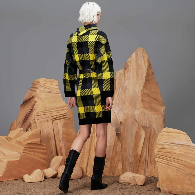 Lacoste Kadın Regular Fit Lacivert Elbise