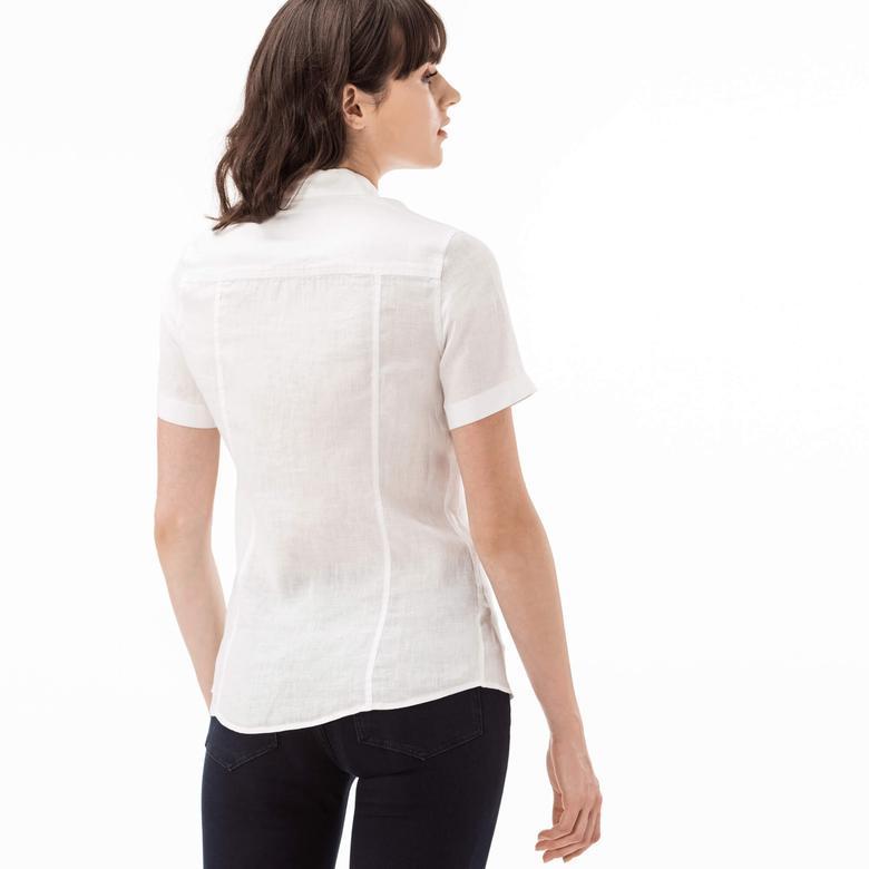 Lacoste Kadın Beyaz Regular Fit Gömlek