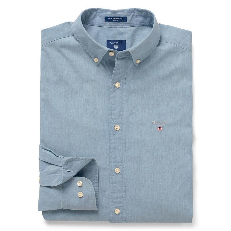 Gant Erkek Mavi Uzun Kollu Regular Fit Gömlek