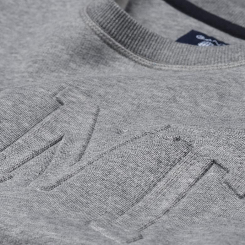 Gant Erkek Gri Uzun Kollu Sweatshirt