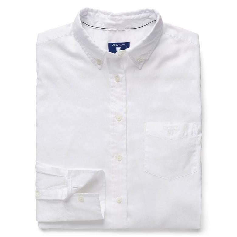 Gant Kadın Beyaz Uzun Kollu Regular Fit Gömlek