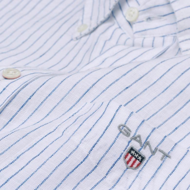 Gant Erkek Beyaz Uzun Kollu Fitted Gömlek
