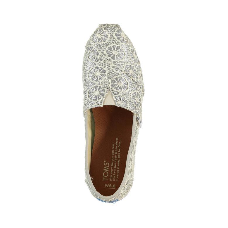 Alpargata Gümüş Kadın Ayakkabı
