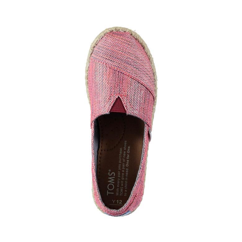 Platform Alpargata Kırmızı Çocuk Ayakkabı