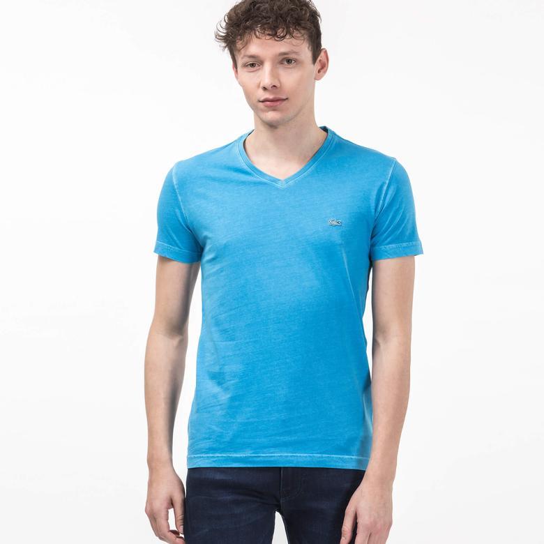 Lacoste Erkek Mavi Slim Fit T-Shirt