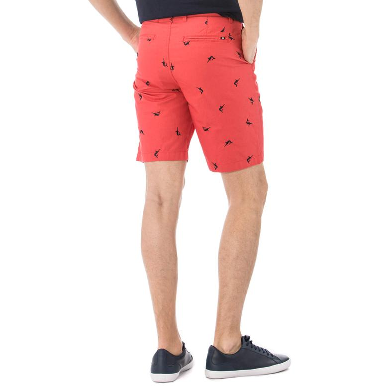 Nautica Erkek Kırmızı Klasik Fit Şort