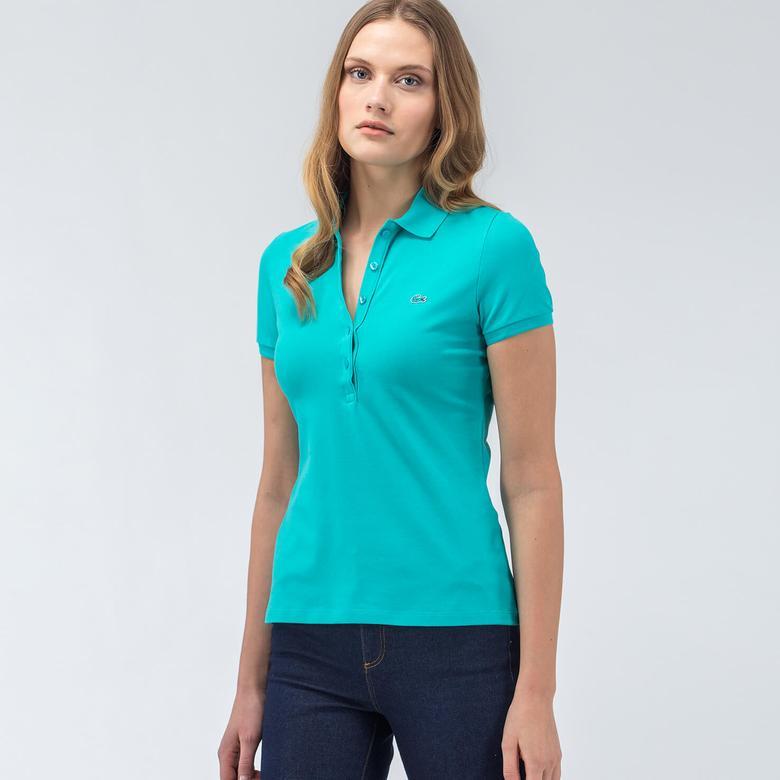 Lacoste Mavi Kadın Polo Tshirt