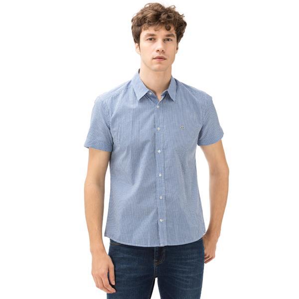 Lacoste Erkek Kısa Kollu Mavi Gömlek