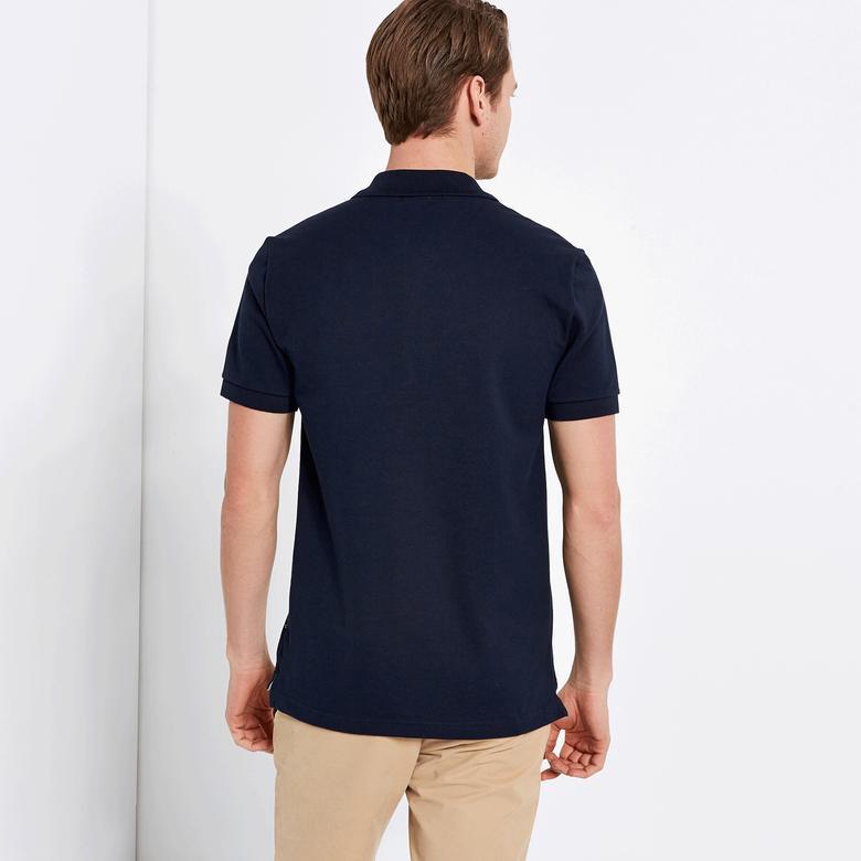 Nautica Erkek Lacivert Kısa Kollu Slim Fit Polo