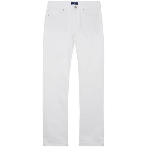Gant Kadın Beyaz Regular Fit Pantolon