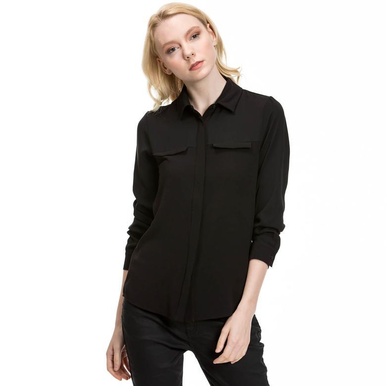 Nautica Kadın Siyah Gömlek