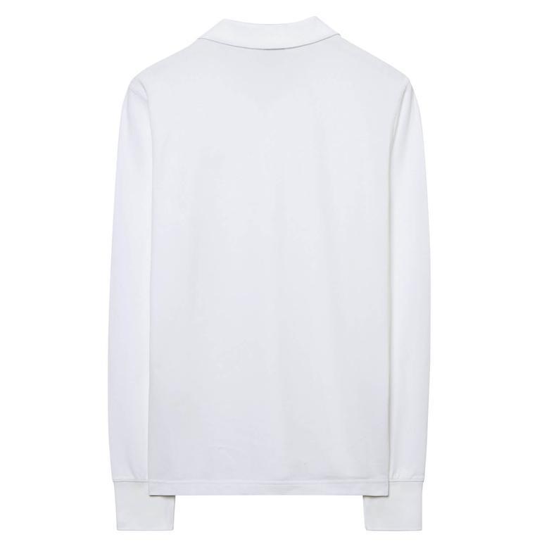 Gant Erkek Beyaz Uzun Kollu Regular Fit Polo