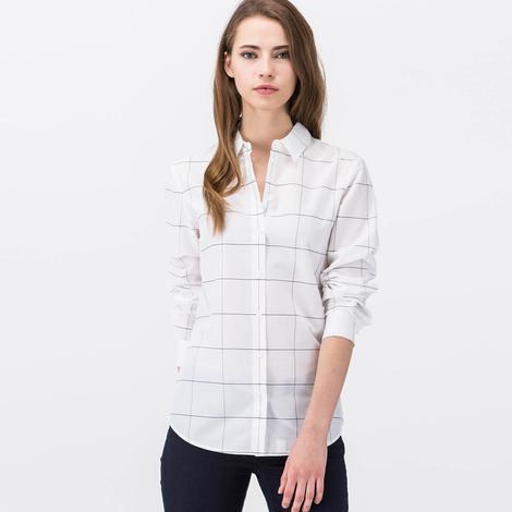 Lacoste Kadın Beyaz Kısa Kollu Gömlek