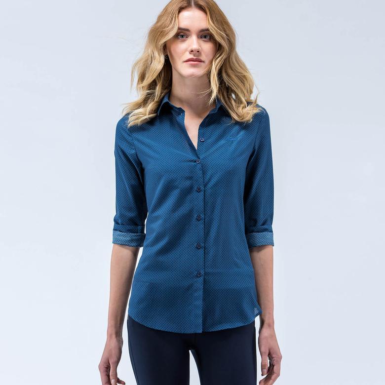 Lacoste Lacivert Kadın Gömlek