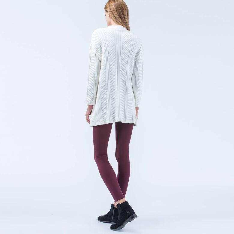 Lacoste Kadın Beyaz Uzun Hırka