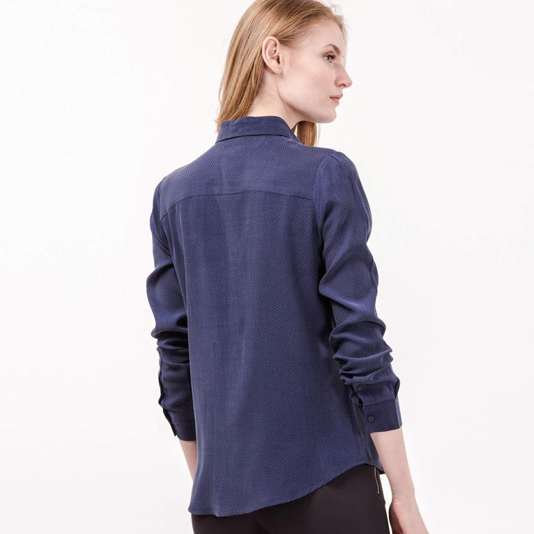 Lacoste Kadın Lacivert Uzun Kollu Gömlek