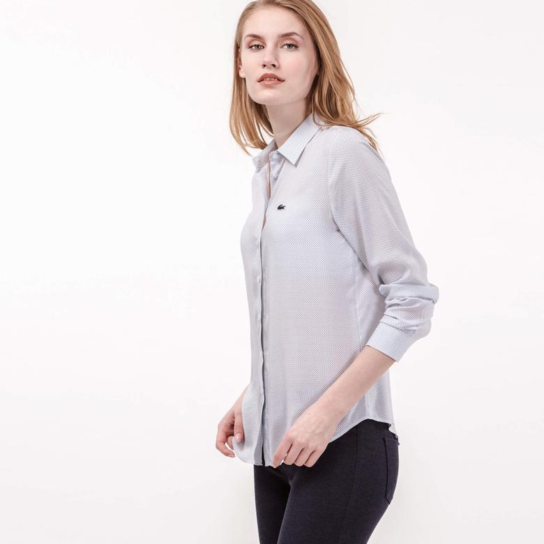 Lacoste Kadın Beyaz Uzun Kollu Gömlek