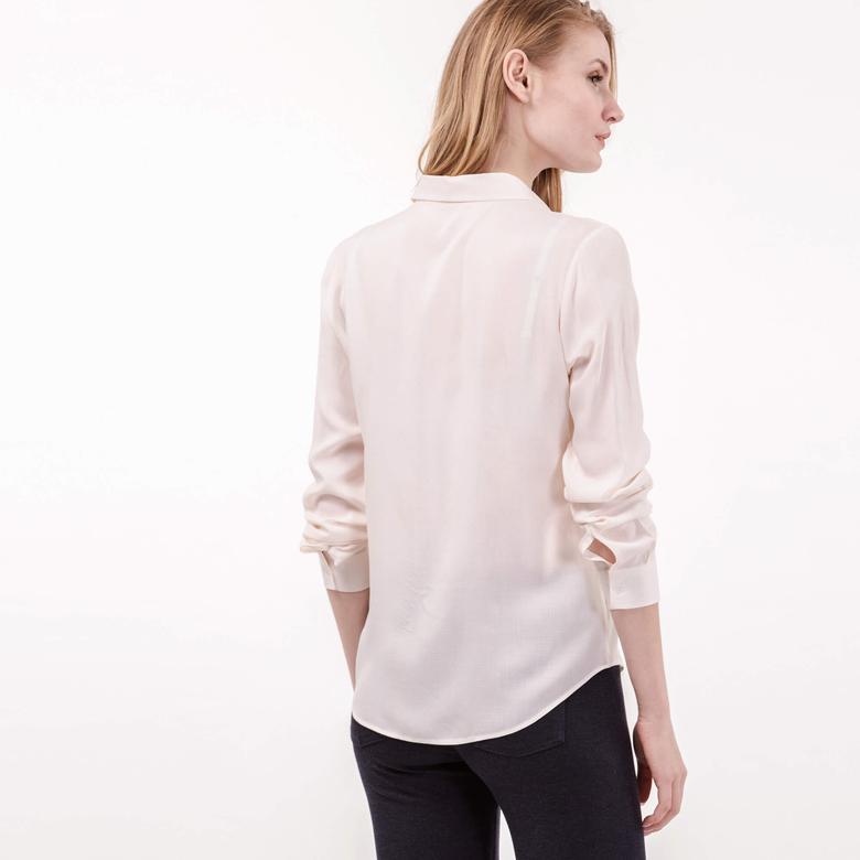 Lacoste Kadın Bej Uzun Kollu Gömlek