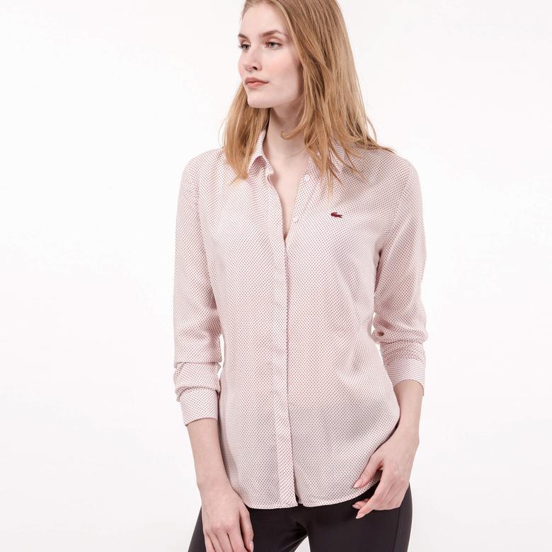 Lacoste Kadın Pembe Uzun Kollu Gömlek