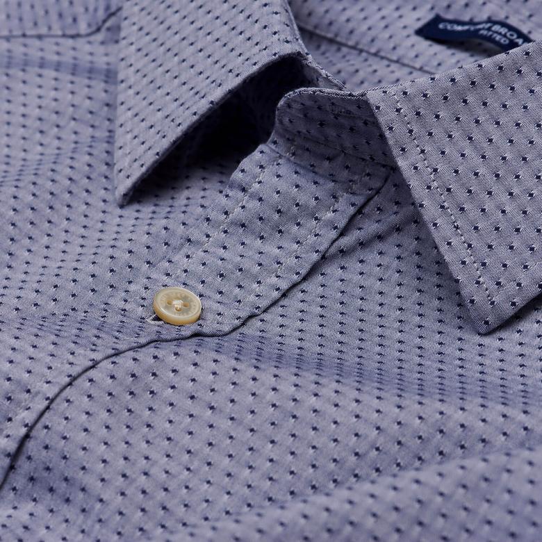 Gant Erkek Lacivert Uzun Kollu Slim Fit Gömlek