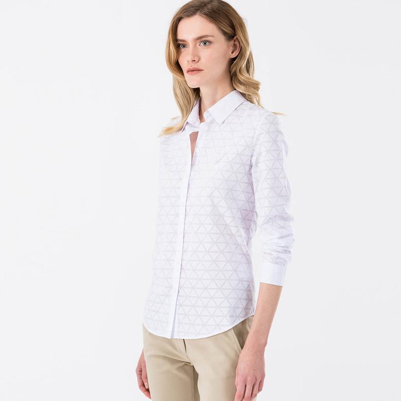 Lacoste Sportswear Kadın Beyaz Gömlek