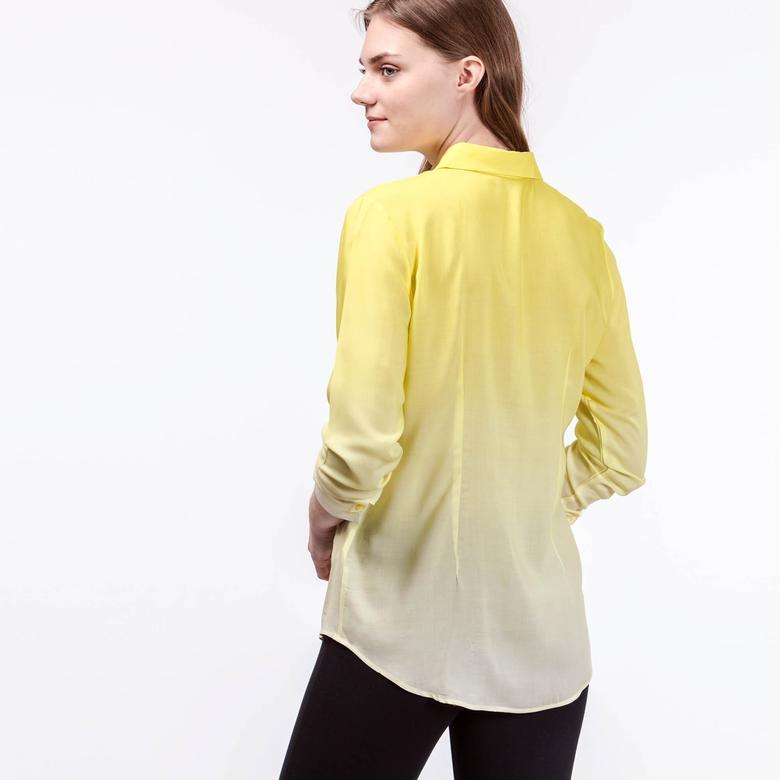 Lacoste Kadın Sarı Uzun Kollu Gömlek