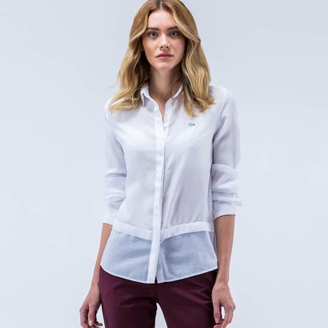 Lacoste Pamuklu Kadın Gömlek