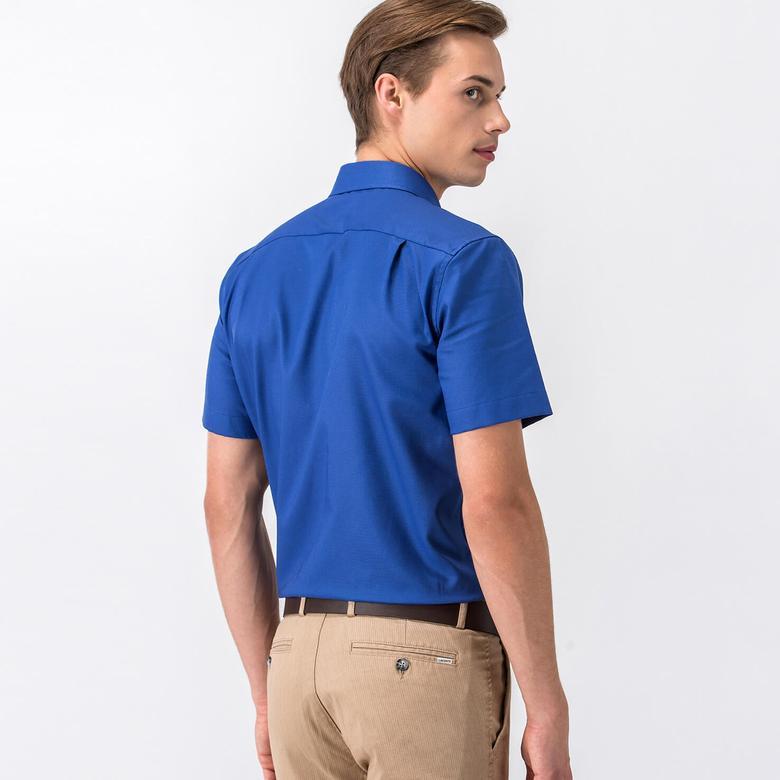 Lacoste Erkek Lacivert Slim Fit Kısa Kollu Gömlek