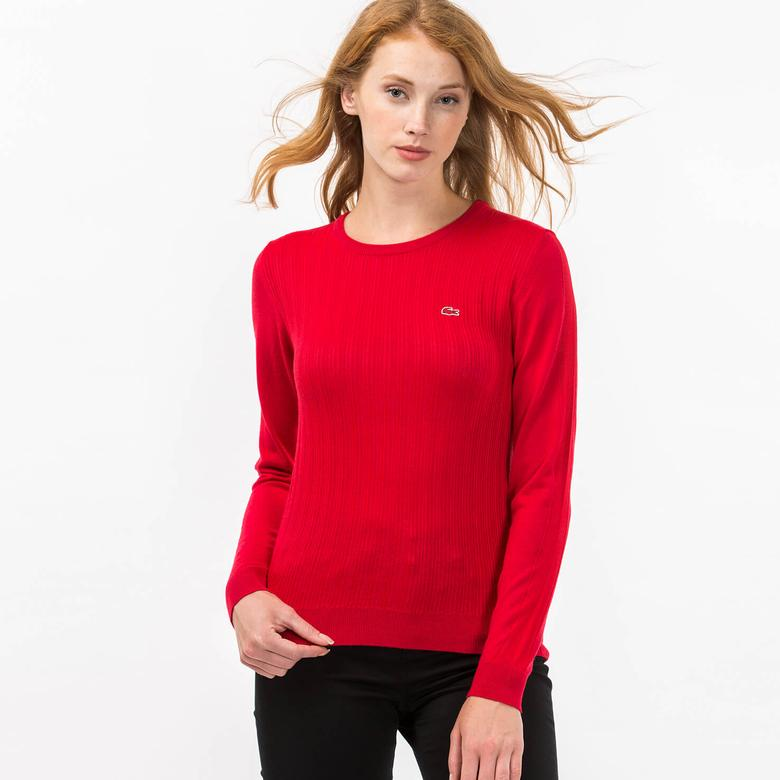 Lacoste Kadın Kırmızı Triko