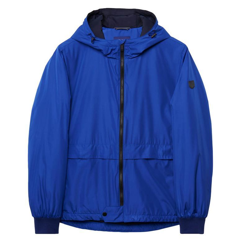 Gant Erkek Kapüşonlu Mavi Mont