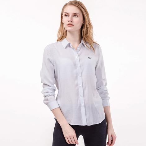 Lacoste Kadın Gri Uzun Kollu Gömlek