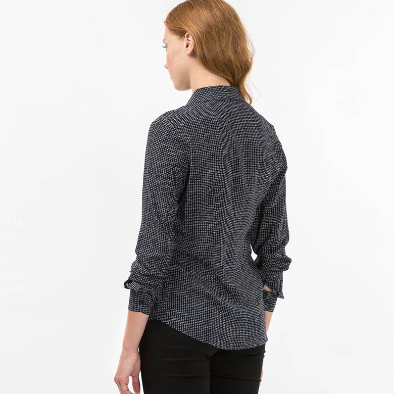 Lacoste Kadın Siyah Uzun Kollu Gömlek